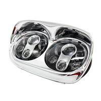 1 SET LED Headlight 2nd headlight Touring Road Glide Light Harley's lights Road Glide Hi/Low Double Headlight For David son