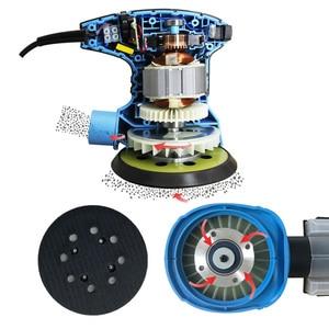 Image 3 - TASP 300W Random Orbital Electric Sander Machine Variable Speed Sanding Tools with Hybrid Dust Canister & 5pcs 125mm Sandpapers