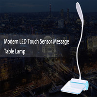 High Quality Led Stand Reading Lamp Modern LED Touch Sensor Message Table Lamp Flexible USB Rechargeable