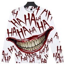 ZY New 3D Anime Women Mens Hoodies Tops Cotton Haha Joker Pint Halloween Sweatshirts Pullover Streetwear Coat Poleron Hombre