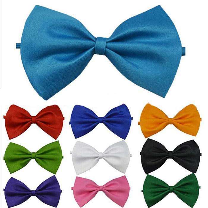 Classic Adjustable Fashion Bow Ties Men's Tuxedo Classic Solid Wedding Party Butterfly Cravat Brand Mullti-Color To Choose