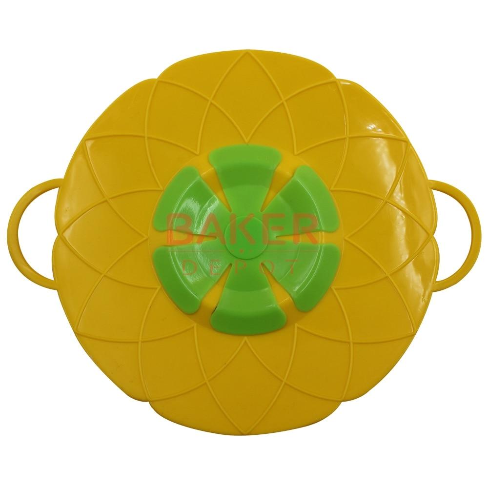 Gadgets de cocina Tapa de silicona Tapón de derrame Tapa de la olla 26CM 30CM Diámetro Tapas de la olla Utensilio Color aleatorio