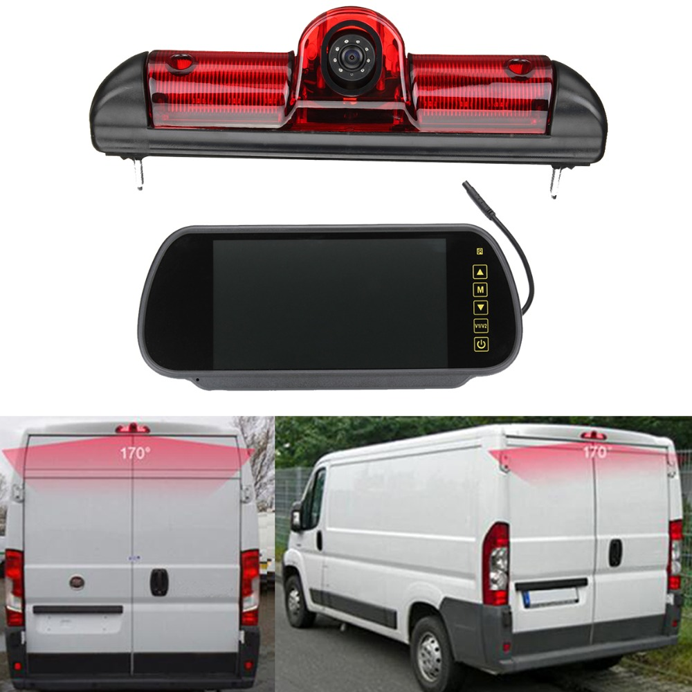 Image 5 - Car Brake Light Rear view camera for Citroen JUMPER III / Fiat DUCATO X250 / Peugeot BOXER III with Built in 6pcs IR Led light-in Vehicle Camera from Automobiles & Motorcycles