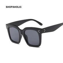 Flat Top Oversize Vintage Sunglasses Women Luxury B