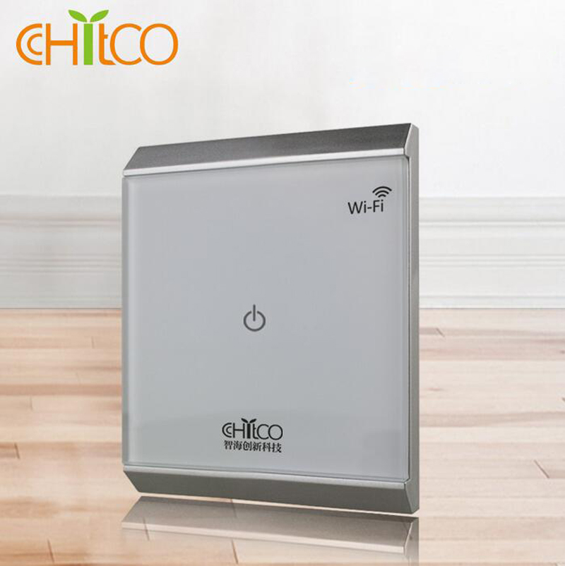 Home Automation Light Control: Chitco Tempered Glass Wifi Light Switch Smart Home
