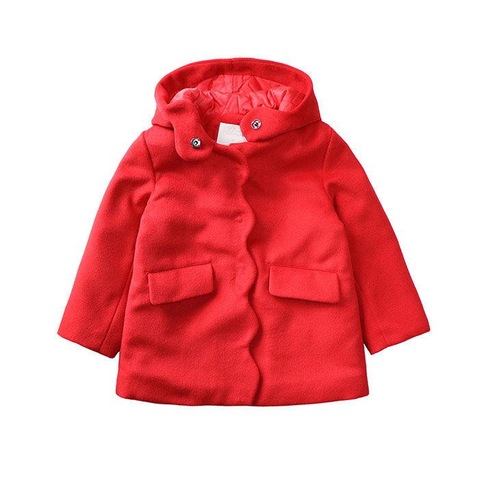 Foreign trade children's clothing fall and winter new girls red folder cotton woolen coats children's long coat jacket спортивная футболка foreign trade and exports ni ke