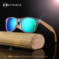 KITHDIA High Quality Bamboo Vintage Sunglasses Fashion Wooden Sunglasses Polarized Men Square Sunglasses Glasses Oculos de sol