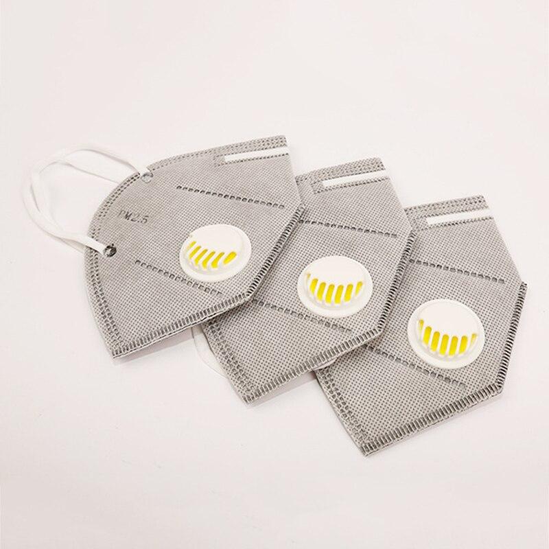 Glorioso 2 Piezas Anti Niebla Pm2.5 Máscara De Boca Aliento Anti-polvo De La Cubierta De La Boca Para Filtro De Carbono Activado Respirador Salud Cuidado De La Piel Herramienta Excelente Valor