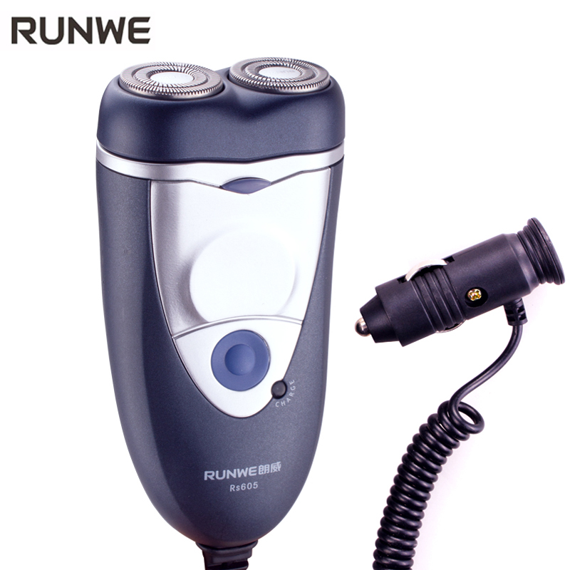 Runwe RS605 Men Razor For Automobile Electric Shaver Portable Washable Face Care Shaving Heads Rechargeable Electric car Razor runwe electric shaver for men whole body washing razor touch electronic switch shaving machine barbeador face care rs988