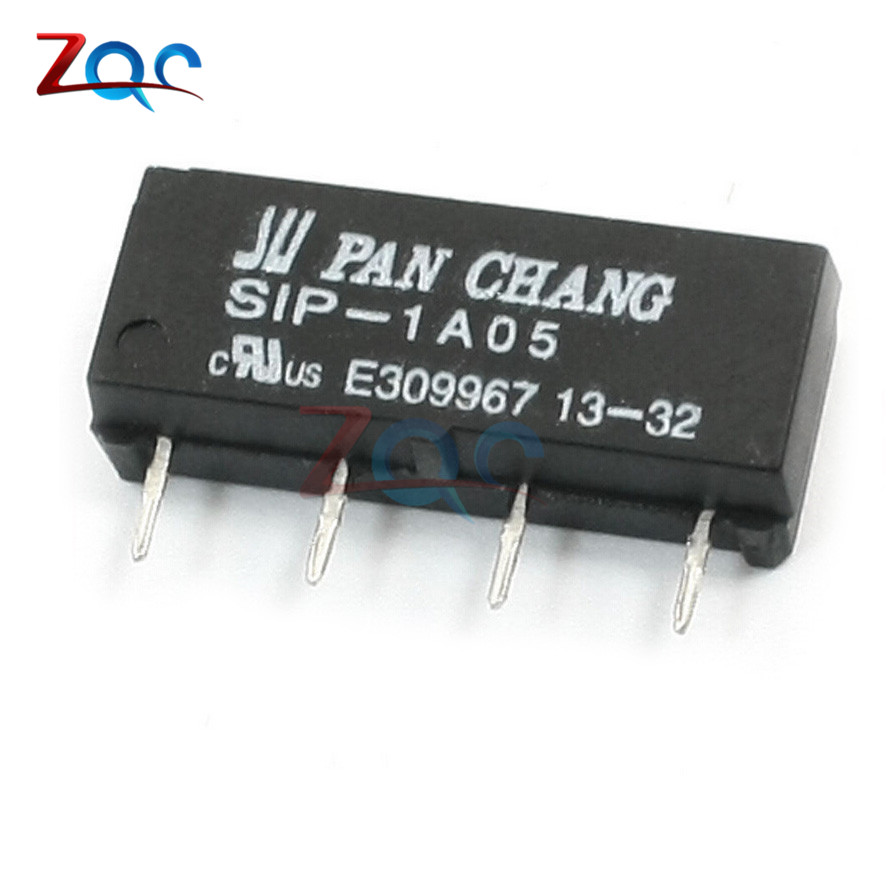 5pcs 5v Relay Sip 1a05 Reed Switch Relay For Pan Chang Relay 4pin New