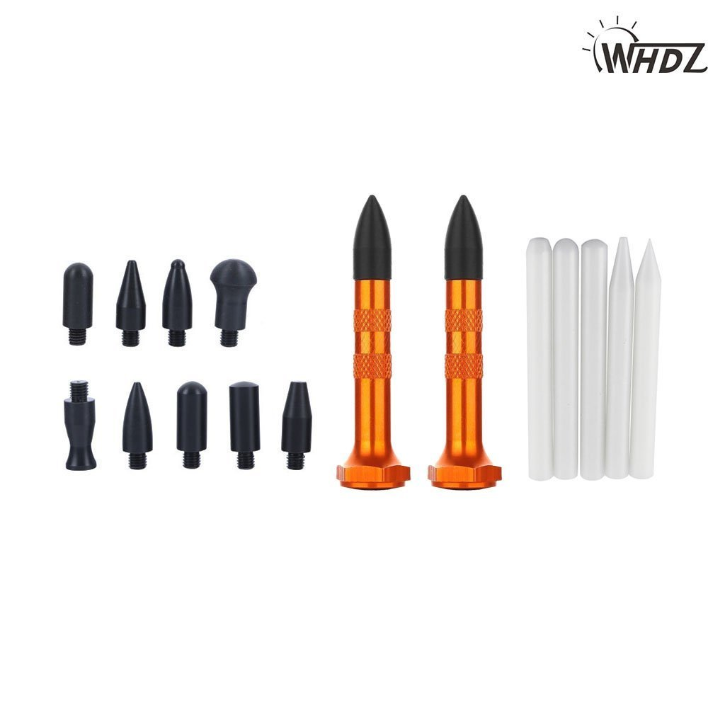 WHDZ PDR Tool PDR Tap Down Aluminum Knock Down Screw-on Heads Plastic Metal - Auto Body Paintless Dent Repair Tools