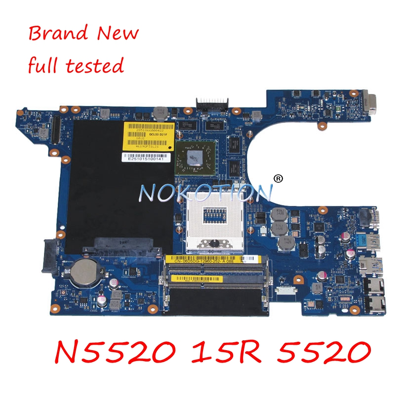 Laptop Motherboard For Dell Inspiron N5520 15R 5520 QCL00 LA-8241P CN-06D5DG 06D5DG 6D5DG DDR3 HD7670M 1GB Main board full test nokotion main board for dell 15r 5520 motherboard system board cn 0n35x3 0n35x3 la 8241p ddr3