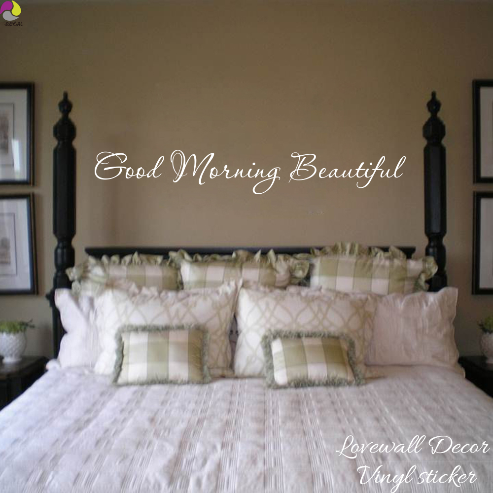10 Home Decor Stores We Love: Aliexpress.com : Buy Good Morning Beautiful Quote Wall