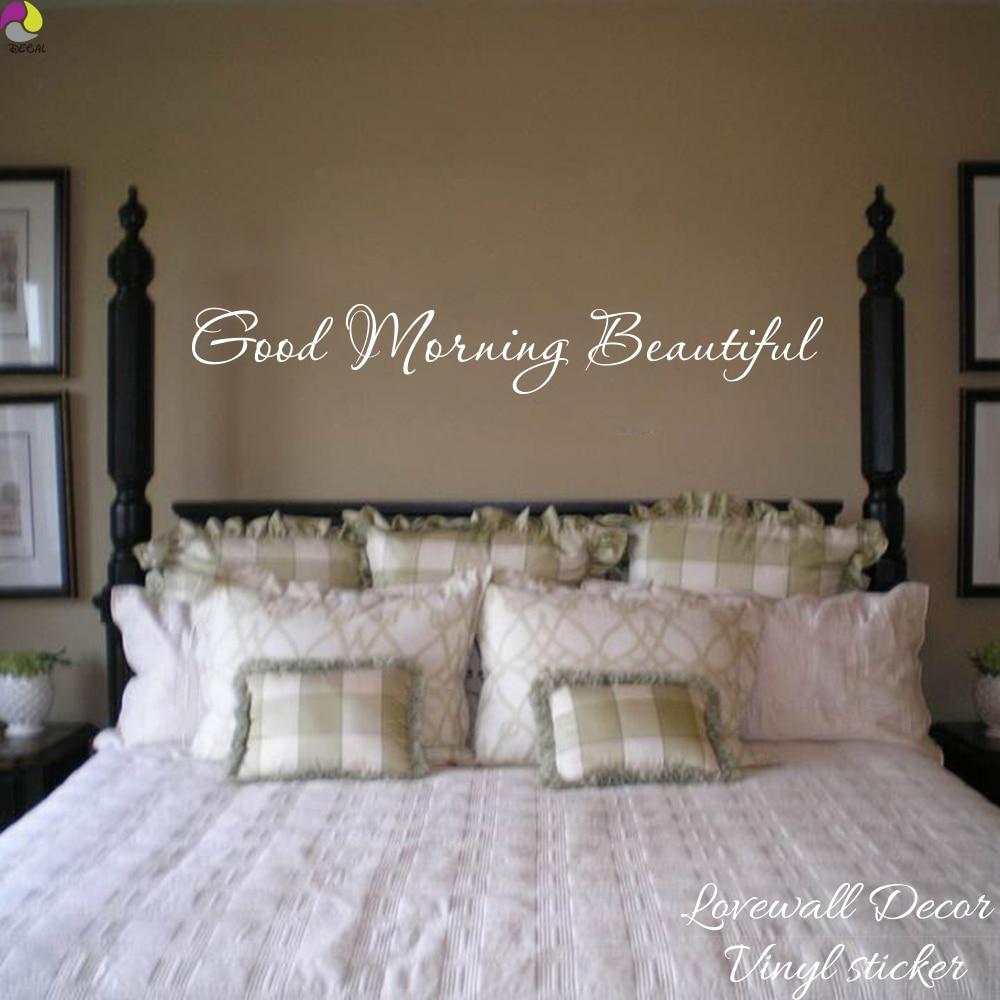 Aliexpress.com : Buy Good Morning Beautiful Quote Wall