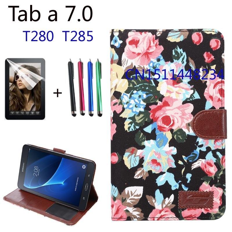Pour Samsung Galaxy Tab Un 7.0 SM-T280 SM-T285 haute qualité mode PU Cuir smart Cover Case Pour Samsung tab a6 7.0 pouce