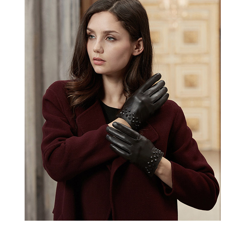 Ladies Women Soft Leather Real 100/% Leather Gloves with lining Driving Winter