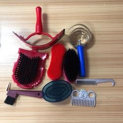 9 в 1 инструмент для чистки лошадей с набором для ухода за лошадью Конный набор оборудования для чистки седла для верховой езды инструменты д...