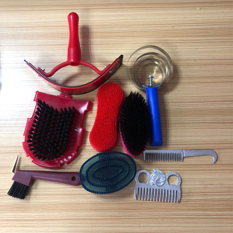 New 9 In 1 Horse Cleanning Tool With Horse Grooming Kit Equestrian Equipment Cleaning Set Saddleries Riding Horse Cleaning Tools аксессуар рекомендуем карандаш vanguard cleaning kit 2 in 1 ck2n1