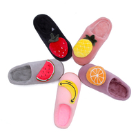 Kmeioo ndoor House Slipper Soft Plush Cotton Cute Slippers Shoes Non Slip Floor Home Furry Slippers Women Shoes For Bedroom