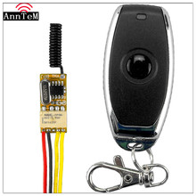 Anntem RF реле доступа к двери 433 МГц переключатель дистанционного управления 12 В DC3.7v to24v Кнопка внутренней связи беспроводная кнопка видеодомофона
