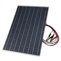 18V 30W Flexible Car Battery Solar Charger Portable Solar Panel Charger with Battery Charging Crocodile Clip Line