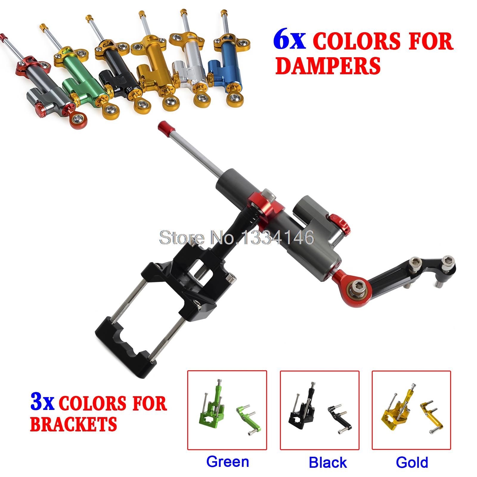 Motorcycle CNC Steering Damper Stabilizer & Bracket For Kawasaki Ninja Z250 Z300 2013 2014-2016 cnc steering damper set stabilizer with bracket mounting assemblly for kawasaki ninja300 ninja 300 ex300 13 14 15 16 2013 2016