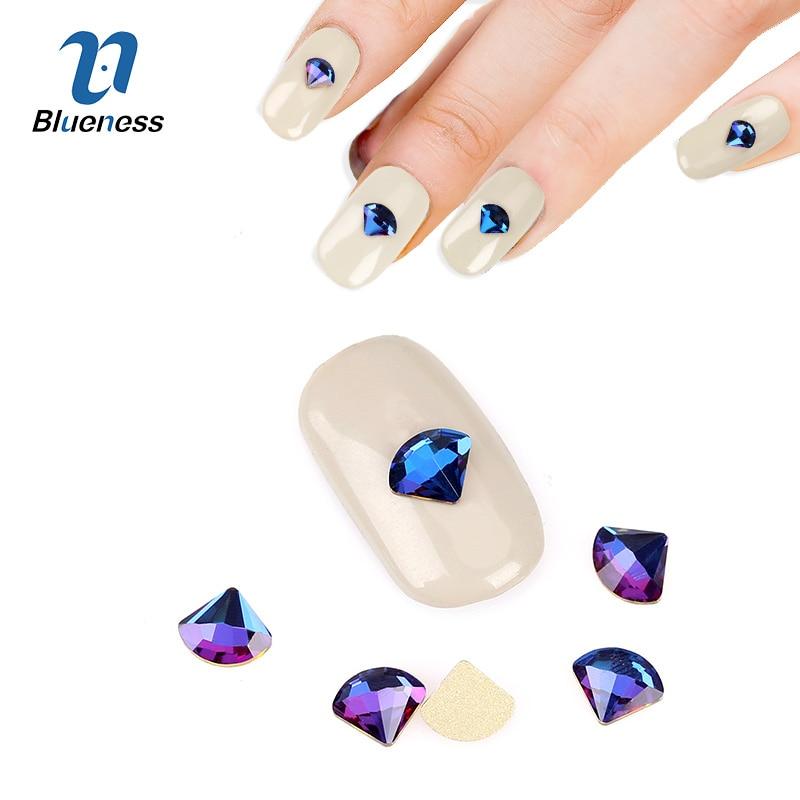 6 * 7mm 3D Nail Art Decoraciones 10 Unids / pack Glitter Rhinestones - Arte de uñas - foto 2