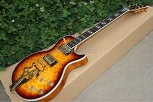 Best Price Vicers Vintage Sunburst Custom Electric Guitar Tiger Grain Classical Golden Hardware Guitar