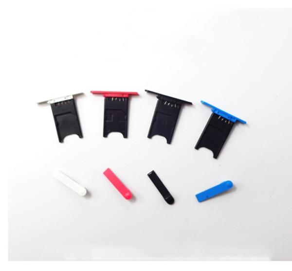Noir/Blanc/Bue/Rouge Nouveau Ymitn Logement USB Couverture De L'écart + Carte SIM Plateau pour Nokia Lumia 800, Livraison Gratuite