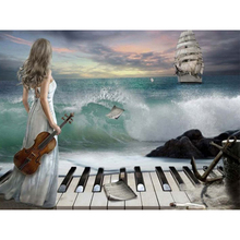 Beautiful sea sailing boat diamond Embroidery diy painting mosaic diamant 3d cross stitch pictures H640