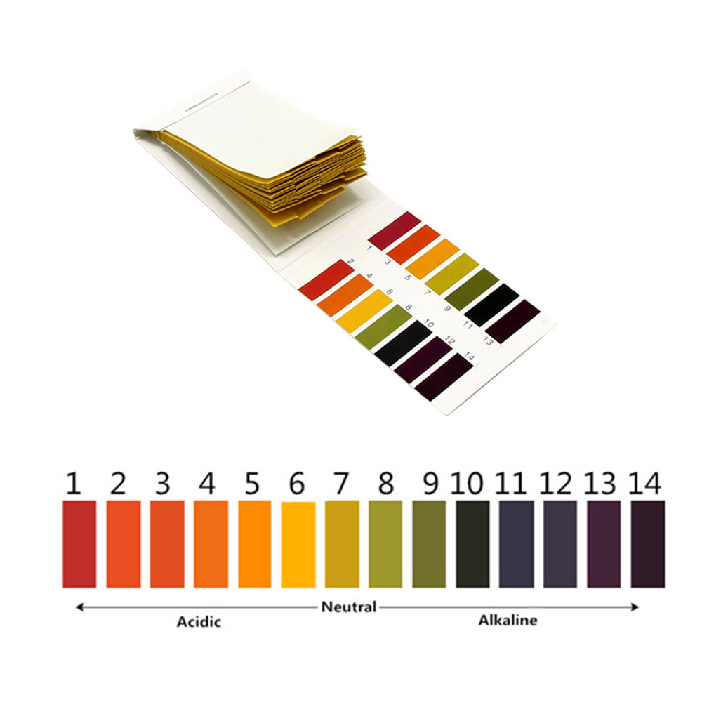 Incredible PH Test Strip 80 Aquarium Pond Water Strips PH Iitmus Test Full-Range Paper Alkaline Acid 1-14 Test Paper Test