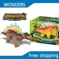 Коробка Пакет Высокое качество Парк Юрского Периода Электрический LED Динозавров Игрушки Действий Динозавров Модель Игрушки со Звуком для мальчиков Подарок