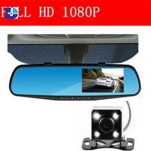 Car camera rearview dual lens mirror auto dvrs cars dvr parking video recorder registrator dash cam full hd 1080p 4.3″ DVR