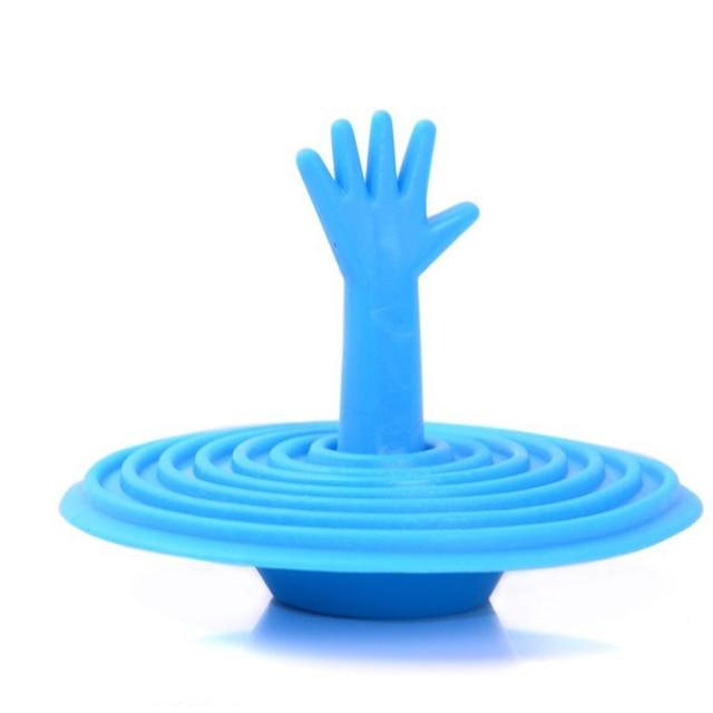 1 pz Creativo Tappo A Forma di Mano di Acqua Spina Bagno Del Bacino Della Cucina Lavello Filtro Fermacorda e ganci Piano di Scarico Della Copertura del Setaccio del Fregadero