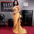 2017 de la Sirena de Oro Vestidos de Noche Sexy Estilo Africano Con Cuentas O-cuello de Las Colmenas del Satén Largo Vestido de Fiesta de Las Mujeres Vestidos de Fiesta Formal