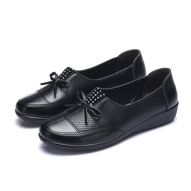 MLANXEUE 2017 Spring New Women's Non-slip Lazy Shoes Women Bow Decoration Low To Help Korean Fashion Flat Casual Shoes
