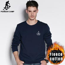 Pioneer camp neue 2016 herbst winter mode mens hoodies beiläufige 100% baumwolle verdicken fleece crewneck hoodie sweatshirt 405102