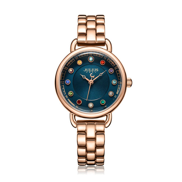 Retro Style Watch With Colorful Crystals