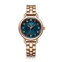 Julius Watch Retro Women Watch Colorful Crystal Dial Casual Bracelet Watch Bohemia Stylish Women Watches Gold Luxury JA 1088