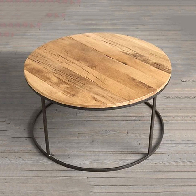 American Rural Iron Wood Coffee Table A Few Upscale Side To Do The Old Retro Round Tea Factory Outlets