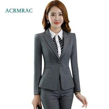 446e2059da ACRMRAC trajes mujer primavera y otoño traje chaqueta delgada OL Formal  mujeres pantalones trajes para mujer trajes de negocios