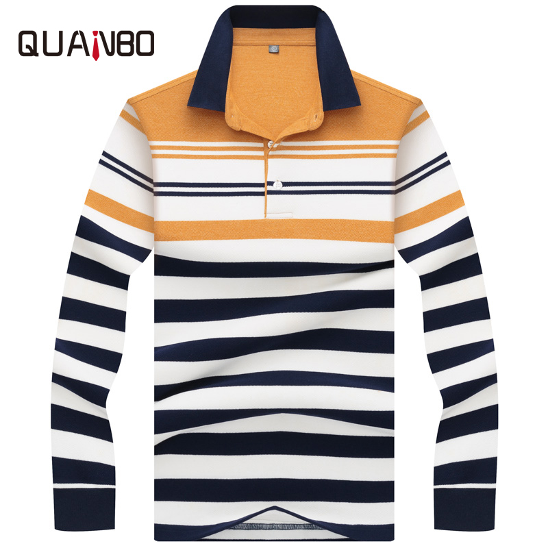 High Quality 3D Embroidery   Polo   Shirt 2019 Spring Winter New Men's Long Sleeve   polo   shirt 100% Cotton Casual Striped   Polo   Shirt
