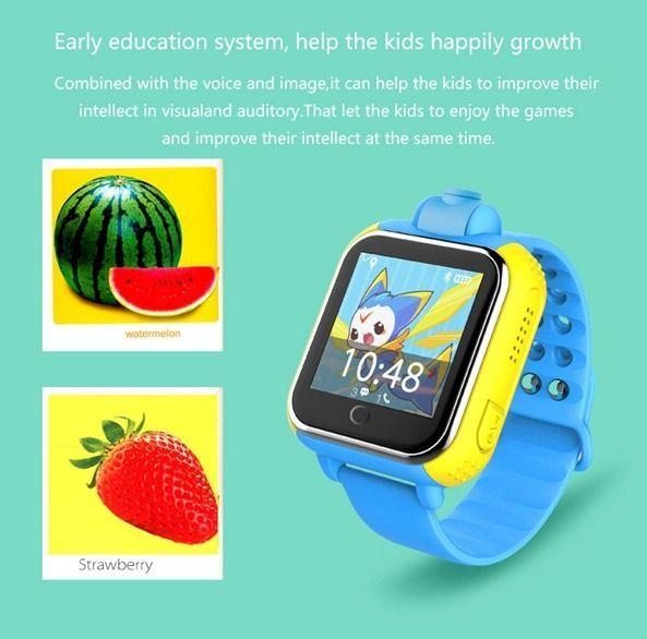 G75 gps à prova d' água smart watch para crianças cartão sim suporte anti-perdido do monitor sos criança presente grande tela com câmera