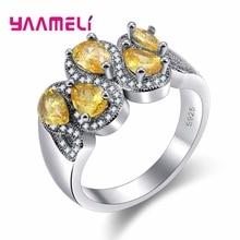 Специальное очаровательное дизайнерское высококачественное украшенное в форме кристалла 925 пробы Серебряное кольцо для женщин вечерние аксессуары