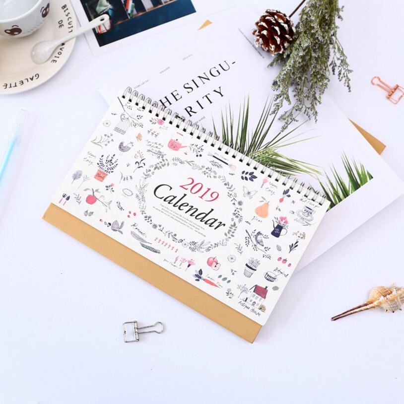 Calendars, Planners & Cards Rapture Weekly Planner Calendar Cute Floral Desktop Paper Calendar Dual Daily Scheduler Table Planner Yearly Agenda 2018.07~2019.12