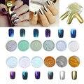 12 Colors Nail Glitter Powder Shinning Nail Mirror Powder Makeup Art Nail polish DIY Chrome Pigment With Sponge Stick