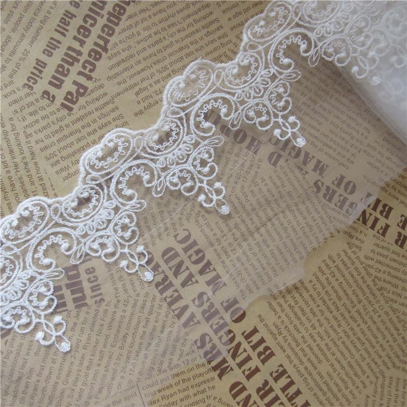 4 Yards Cotton Crochet Lace Trim Ribbon Costume Applique Sewing Craft
