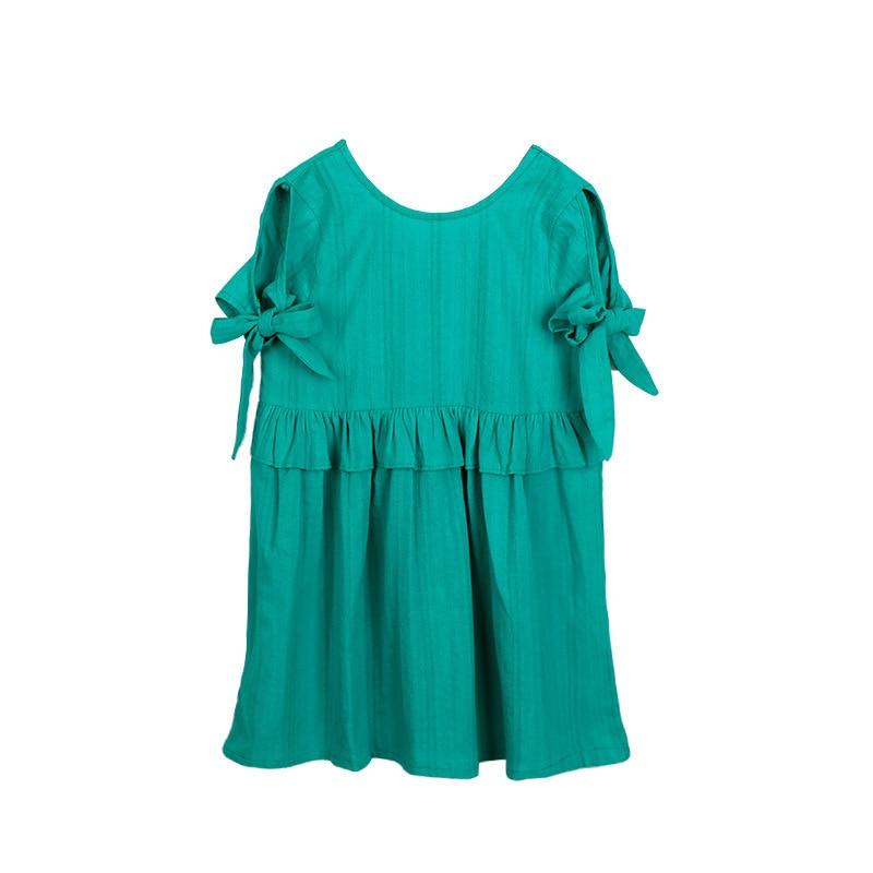 51a52cc285a8db Ruffles Patchwork Little Big Girl Dresses Cotton Summer 2018 Green Princess  Mini Kids Dresses Designs Children