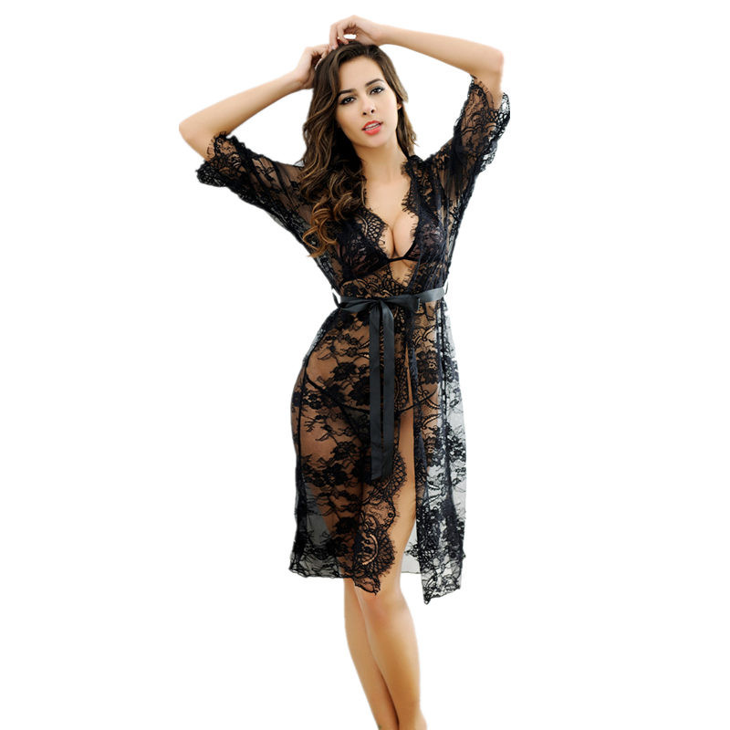 Women Sexy Porn Lingerie Lace Transparent Sexy Night Dress Sleepwear Teddy Lingerie Sexy Underwear Erotic Costumes Nightgown