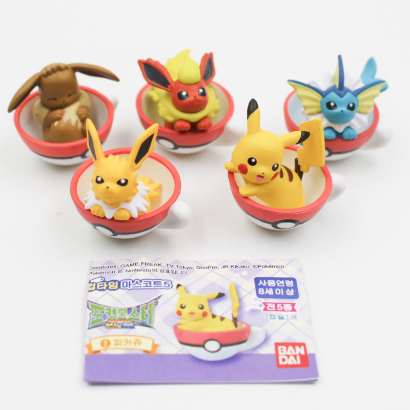 Pokemon Toys Genuine Capsules Pokemon In Teacups Dolls Pikachu Ibrah Action Figure Collection Decoration Kids Gifts